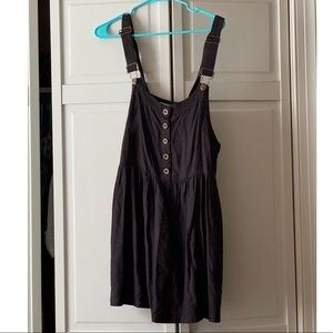 Urban outfitters black overall dress